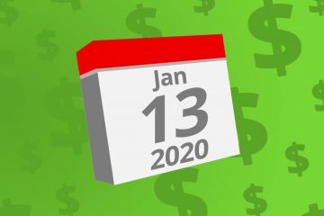 Calendar with the date January 13th, 2020 on it