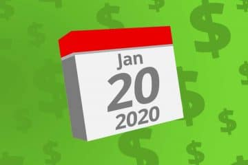 Calendar with the date January 20th, 2020 on it