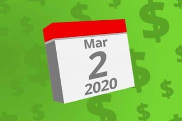 Calendar with the date March 2nd, 2020 on it