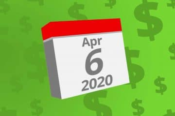 Calendar with the date April 6th, 2020 on it