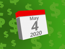 Calendar with the date May 4th, 2020 on it