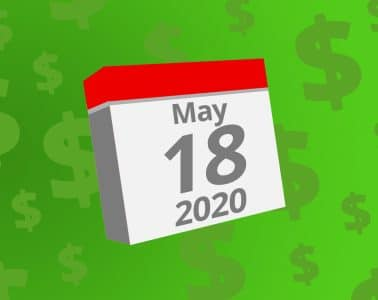 Calendar with the date May 18th, 2020 on it