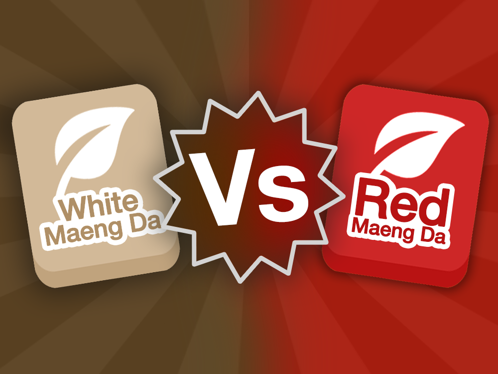 White Maeng Da strain icon vs Red Maeng Da strain icon