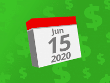 Calendar with the date June 15th, 2020 on it