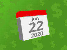 Calendar with the date June 22nd, 2020 on it