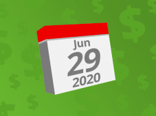Calendar with the date June 29th, 2020 on it