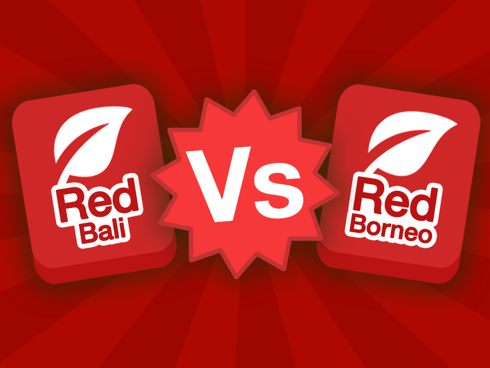 Red Bali strain icon vs Red Borneo strain icon