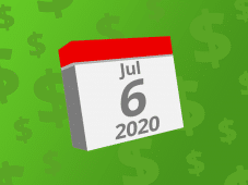 Calendar with the date July 6th, 2020 on it
