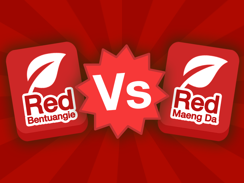Red Bentuangie strain icon vs Red Maeng Da strain icon