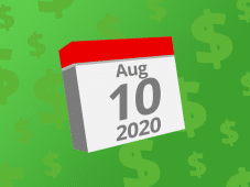 Calendar with the date August 10th, 2020 on it