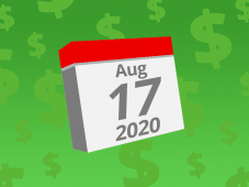Calendar with the date August 17th, 2020 on it