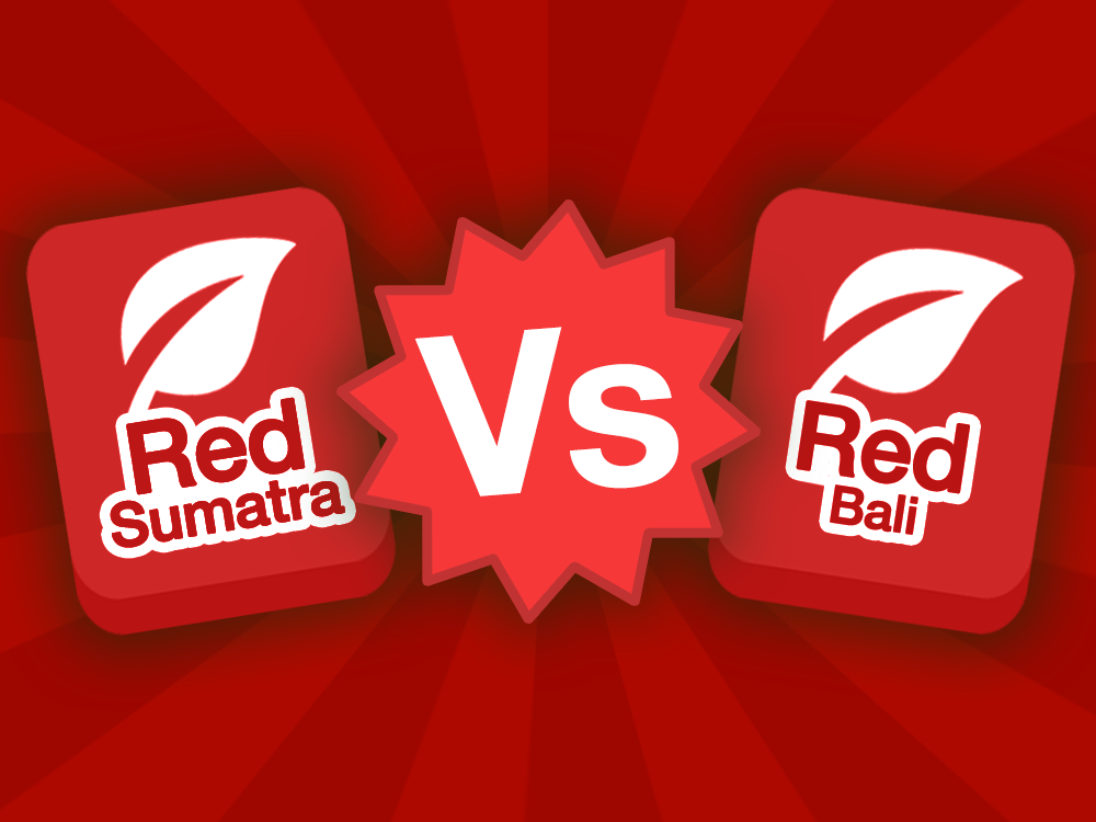 Red Sumatra strain icon vs Red Bali strain icon