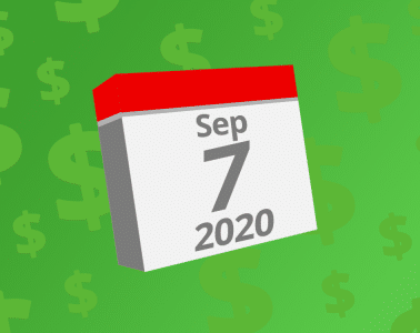 Calendar with the date September 7th, 2020 on it