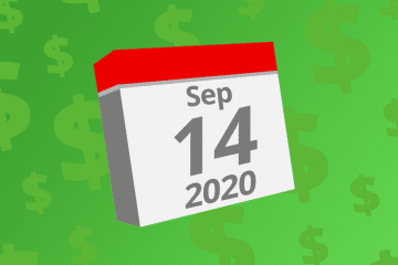 Calendar with the date September 14th, 2020 on it