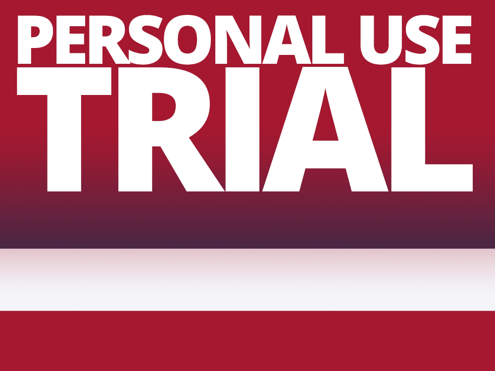 """Thailand flag with text overlay that reads """"personal use trial"""""""