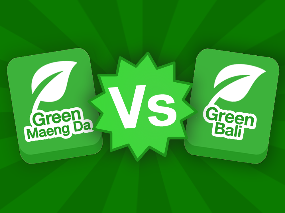 Green Maeng Da strain icon vs Green Bali strain icon