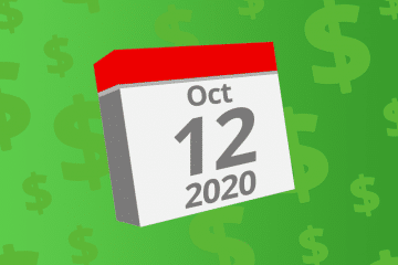 Calendar with the date October 12th, 2020 on it